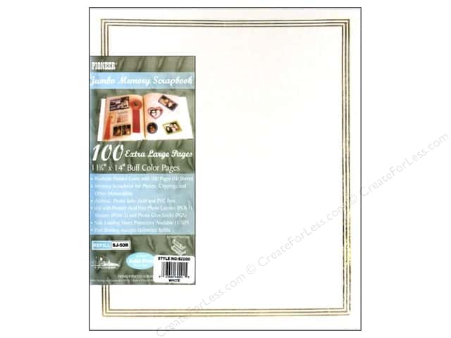 Pioneer Scrapbook Album 11 3/4 x 14 in. Jumbo White