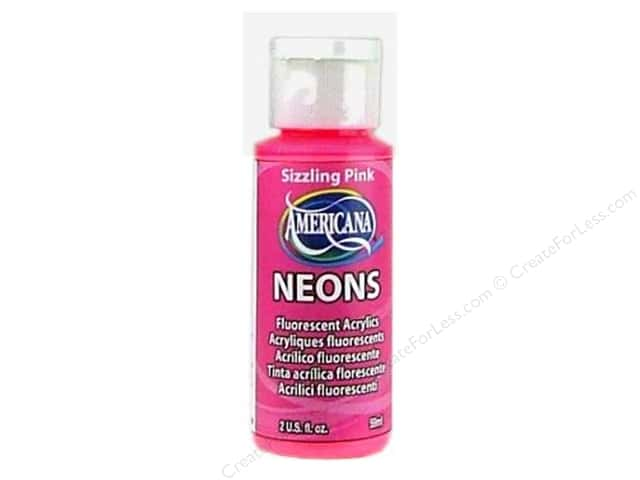 DecoArt Americana Neons Acrylic Paint 2 oz. #DHS3 Sizzling Pink