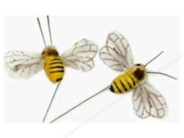 "Midwest Design Insects .75"" Bee With Wire Yellow/Black 2pc"