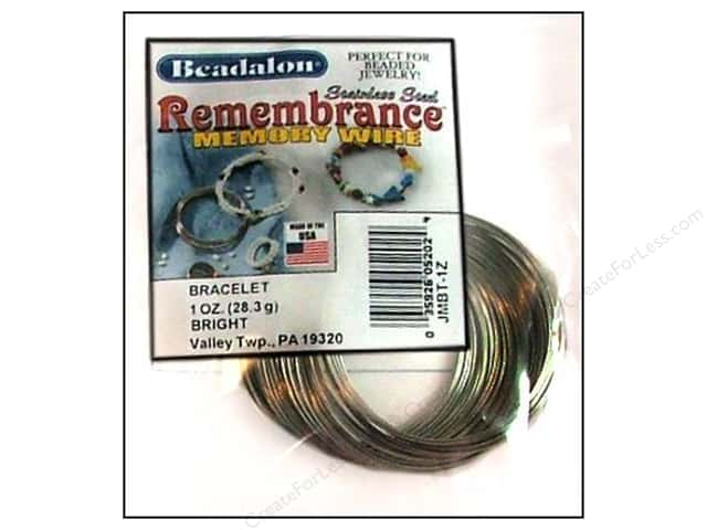 Beadalon Remembrance Memory Wire Necklace 1 oz. Bright