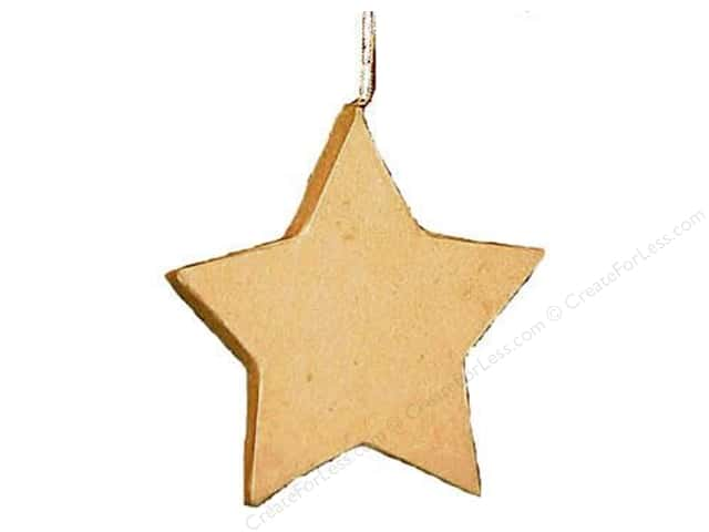 paper mache paper mache flat star ornament by craft pedlars