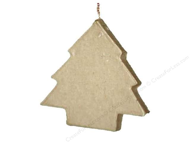 Paper Mache Flat Tree Ornament by Craft Pedlars (3 pieces)