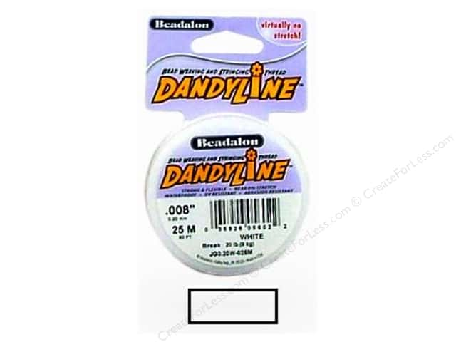 Beadalon DandyLine Beading Thread 0.20 mm White 82 ft.