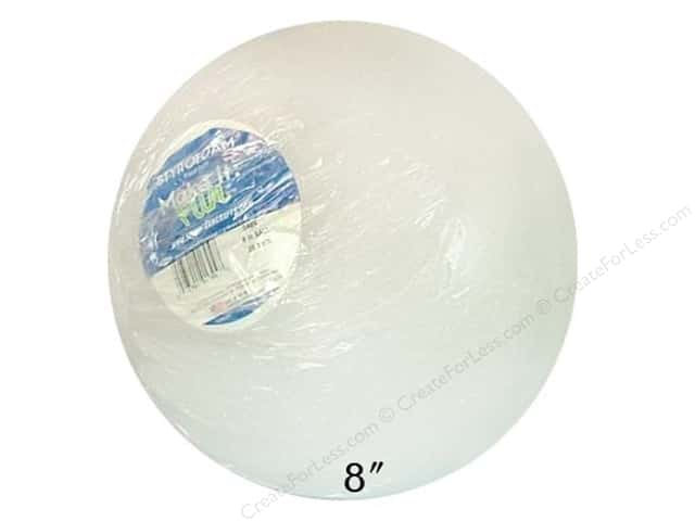 FloraCraft Styrofoam Ball 8 in. White 1 pc.