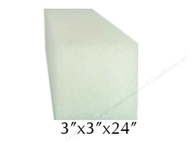 FloraCraft Styrofoam Square Bars 3 x 3 x 24 in. White (24 pieces)