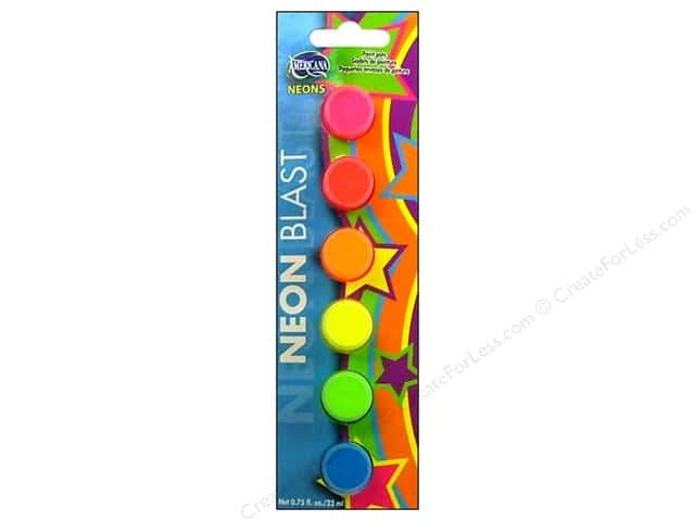 DecoArt Paint Pots Americana 6 Assorted Neon Blast
