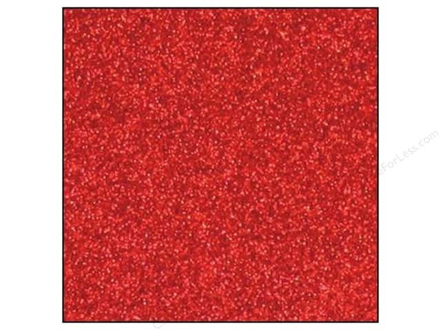 Best Creation 12 x 12 in. Cardstock Glitter Red (15 sheets)