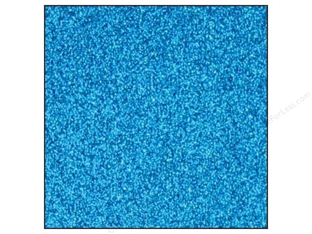 Best Creation 12 x 12 in. Cardstock Glitter Ocean Blue (15 sheets)