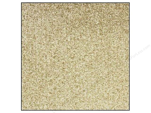 Best Creation 12 x 12 in. Cardstock Glitter Bright Gold (15 sheets)