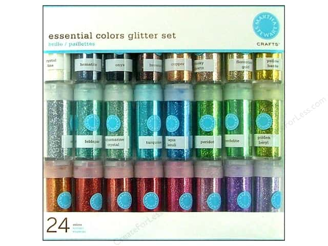 Martha Stewart Glitter .37oz Multi Pack 24pc