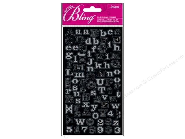 Jolee's Bling Stickers Mini Foil Alphabet Silver