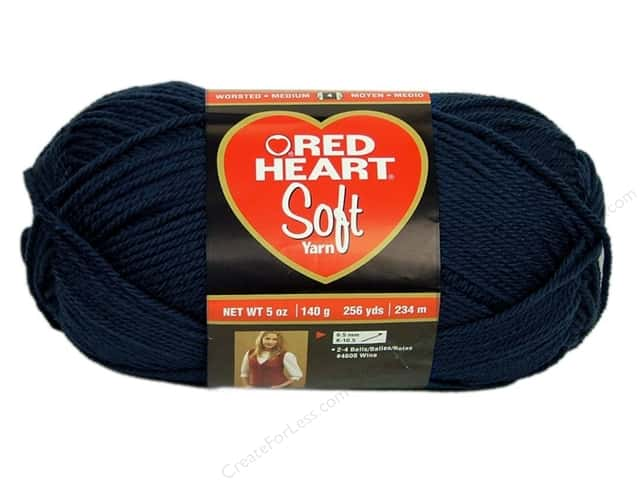 Red Heart Soft Yarn 256 yd. #4604 Navy