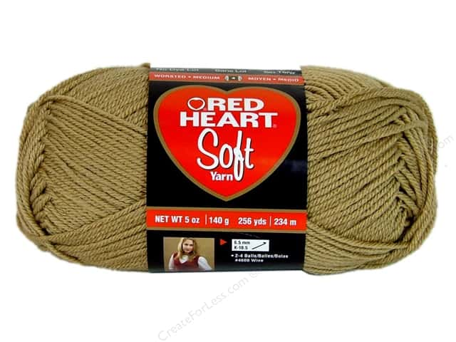 Red Heart Soft Yarn 256 yd. #9388 Wheat