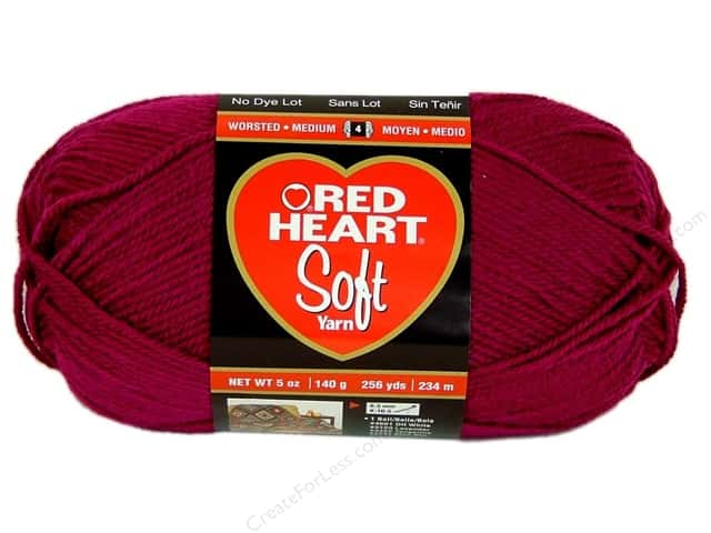 Red Heart Soft Yarn #9779 Berry 256 yd.