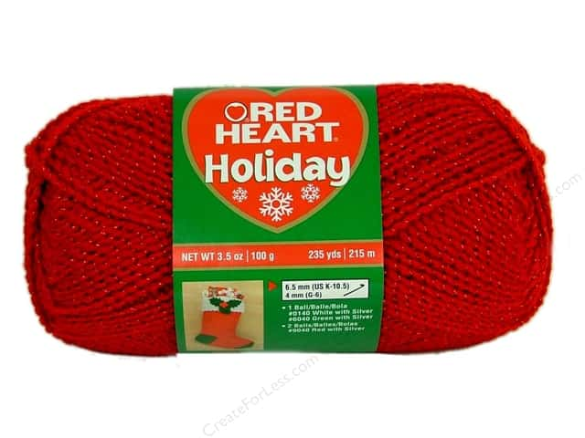 Red Heart Holiday Yarn #9090 Red/Red 235 yd.