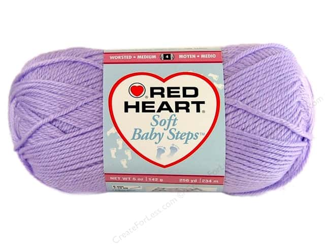 Red Heart Soft Baby Steps Yarn 256 yd. #9590 Lavender