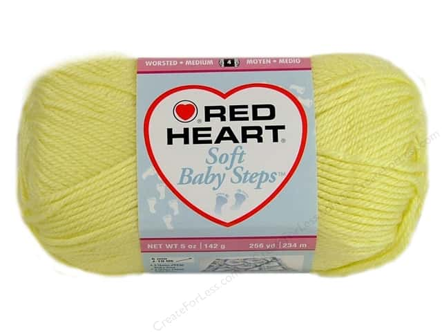 Red Heart Soft Baby Steps Yarn #9200 Baby Yellow 256 yd.