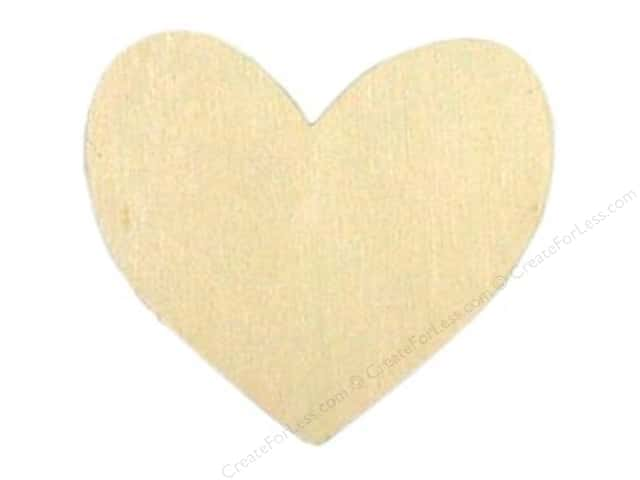 Darice Unfinished Wood Shape 2 1/2 x 3 in. Heart (24 pieces)
