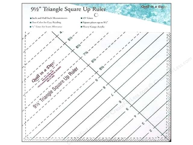 Quilt In A Day Ruler Triangle Square Up 9.5""