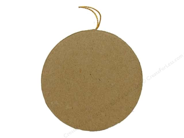 Paper Mache Flat Round Ornament by Craft Pedlars