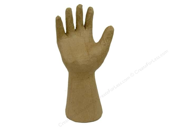 Paper Mache Open Hand by Craft Pedlars