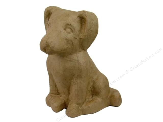 Paper Mache Sitting Dog by Craft Pedlars