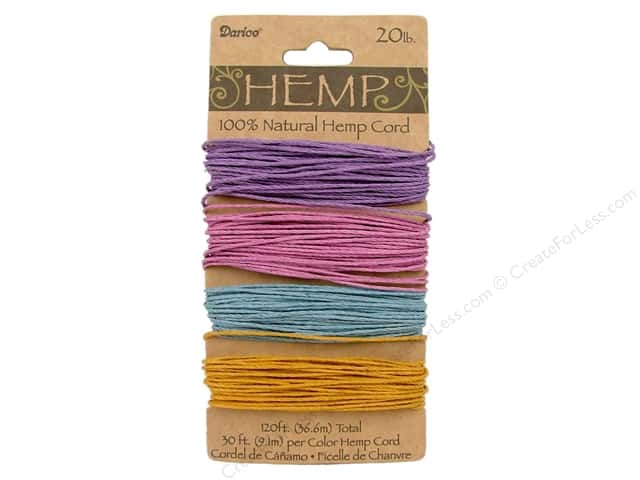 Darice Hemp Cord Set 4 pc. 20 lb. Pastels