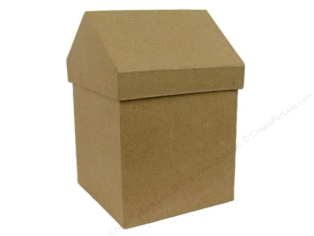 PA Paper Mache Small House Box 6 1/2 in.