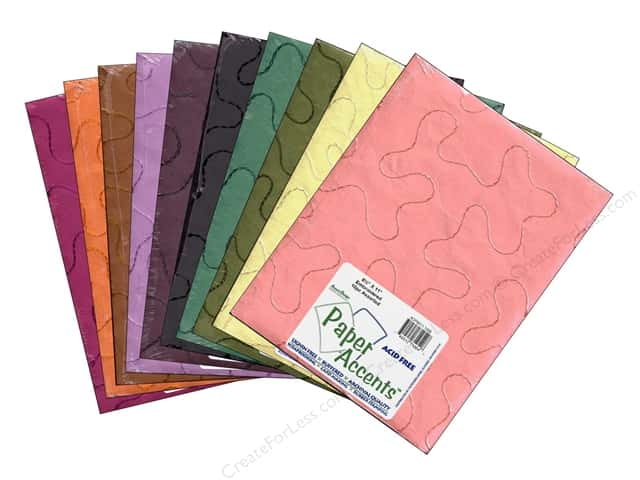 Paper Accents Cardstock Variety Pack 8 1/2 x 11 in. Embroidered 10 pc.