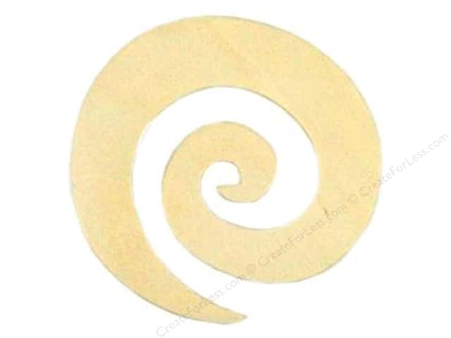 Darice Unfinished Wood Shape 3 1/2 x 3 1/2 in. Funky Swirl (24 pieces)