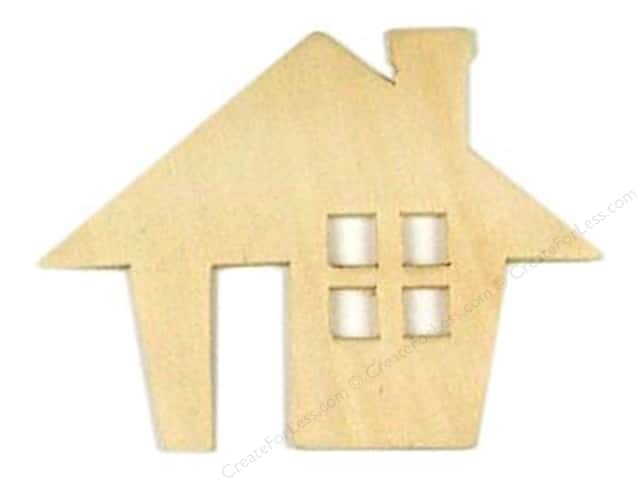 Darice Unfinished Wood Shape 3 x 4 in. Cabin