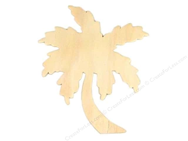 Darice Unfinished Wood Shape 5 x 4 1/4 in. Palm Tree (24 pieces)