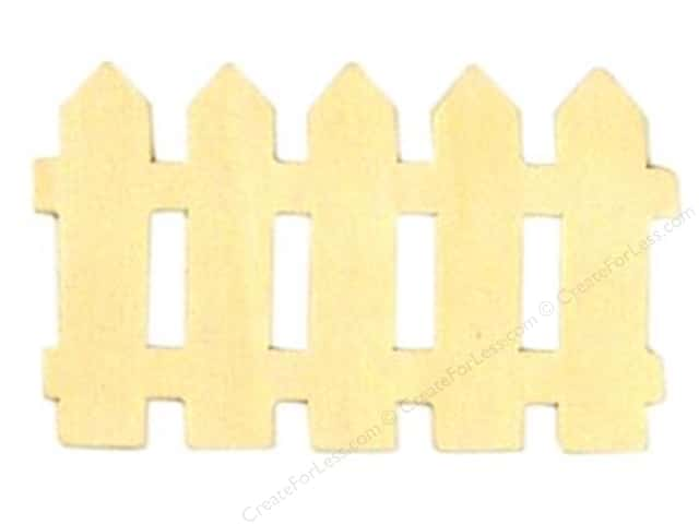 Darice Unfinished Wood Shape 2 1/2 x 4 1/4 in. Picket Fence (24 pieces)