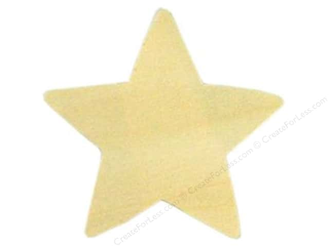 Darice Unfinished Wood Shape 3 1/2 in. Large Star (24 pieces)