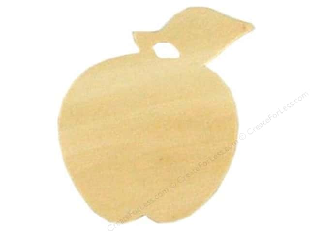 Darice Unfinished Wood Shape 3 1/2 x 3 in. Apple