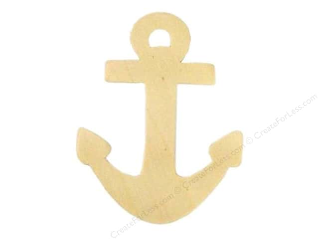Darice Unfinished Wood Shape 4 1/2 x 3 1/2 in. Anchor (24 pieces)