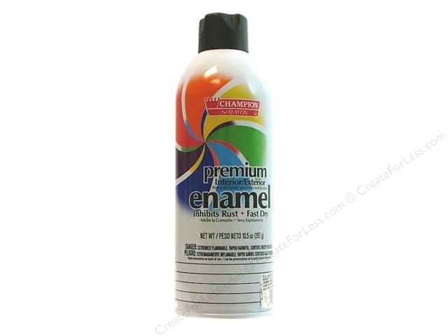 Chase Champion Premium Enamel Spray Paint 10.5 oz. Flat Black