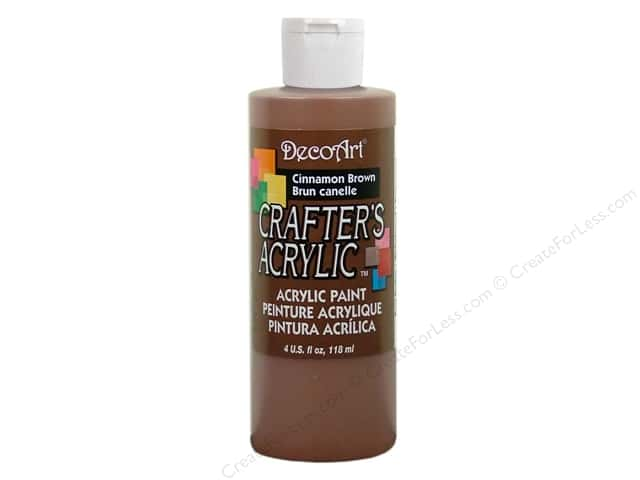 DecoArt Crafter's Acrylic Paint 4 oz. #DCA12 Cinnamon Brown