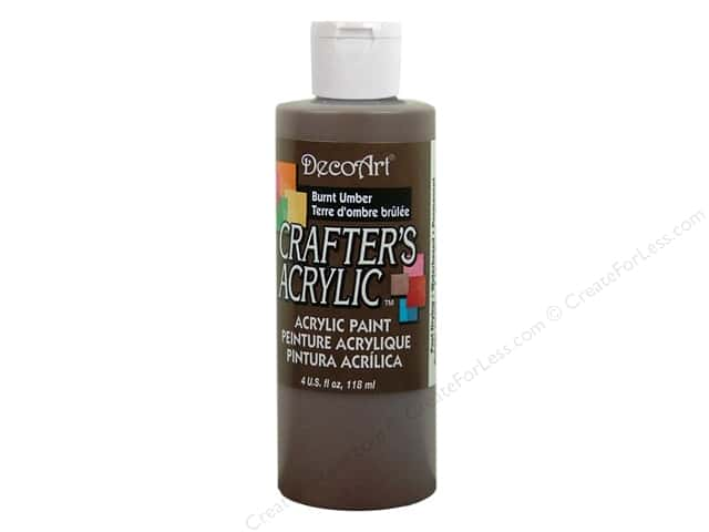 DecoArt Crafter's Acrylic Paint 4 oz. #DCA16 Burnt Umber
