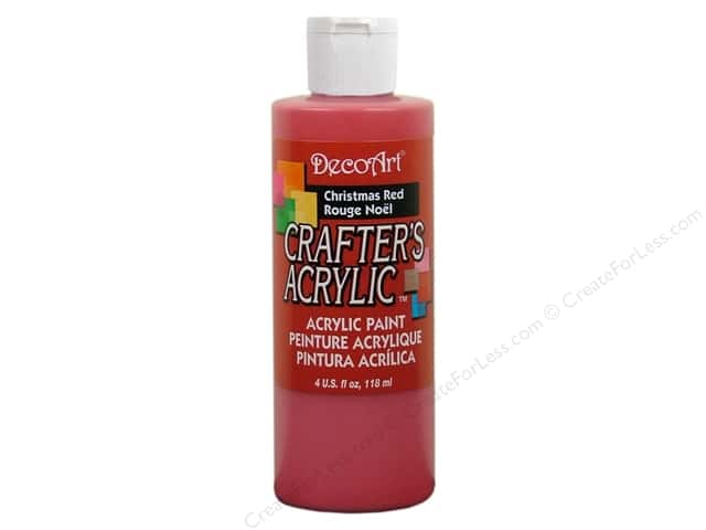 DecoArt Crafter's Acrylic Paint 4 oz. #DCA20 Christmas Red