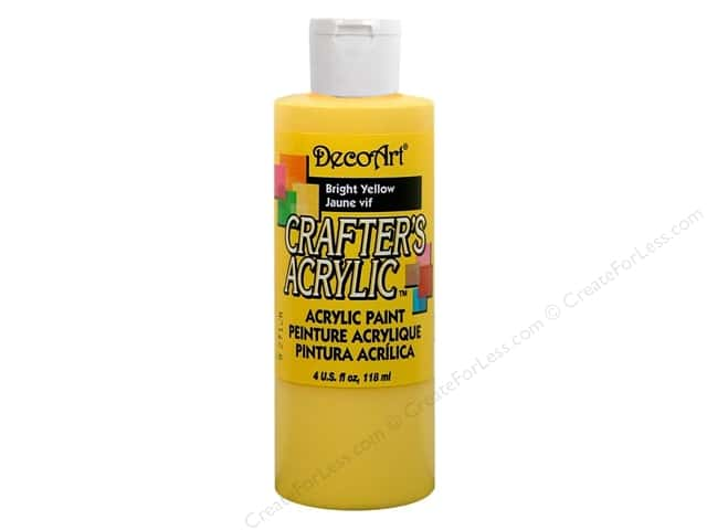DecoArt Crafter's Acrylic Paint 4 oz. #DCA49 Bright Yellow
