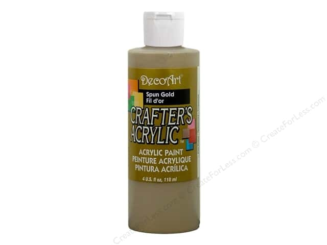 DecoArt Crafter's Acrylic Paint 4 oz. #DCA96 Spun Gold