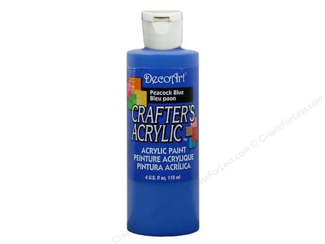 DecoArt Crafter's Acrylic Paint 4 oz. #DCA80 Peacock Blue