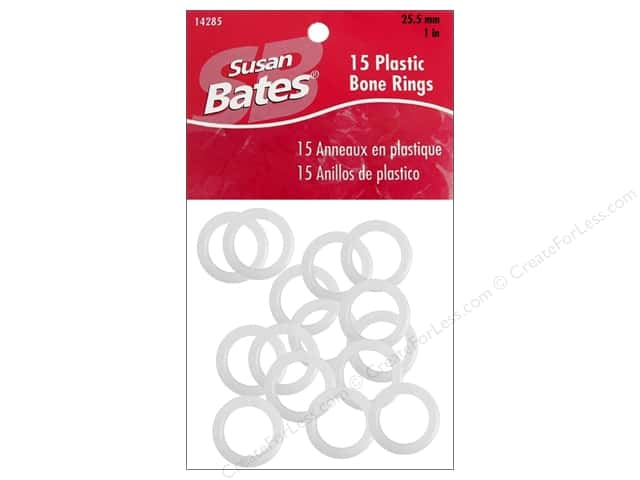 Susan Bates Luxite Bone Rings 1 in. 15 pc.