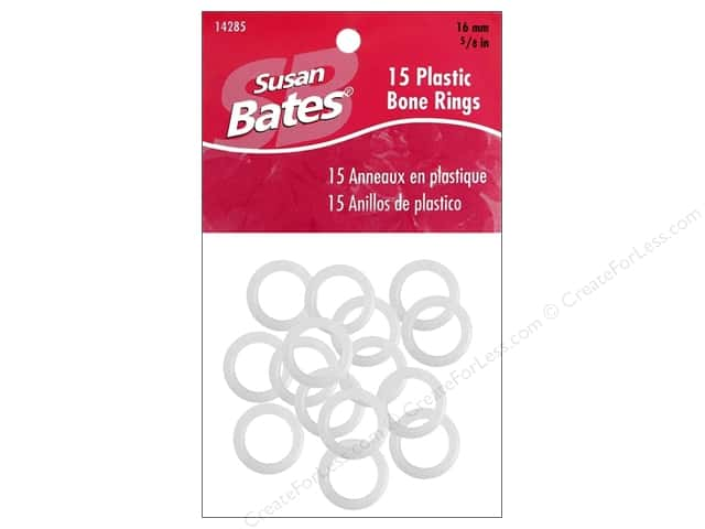Susan Bates Luxite Bone Rings 5/8 in. 15 pc.