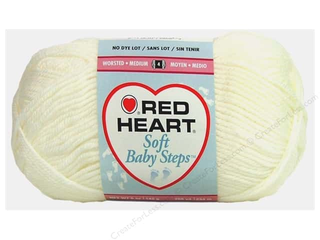 Red Heart Soft Baby Steps Yarn #9600 White 256 yd.
