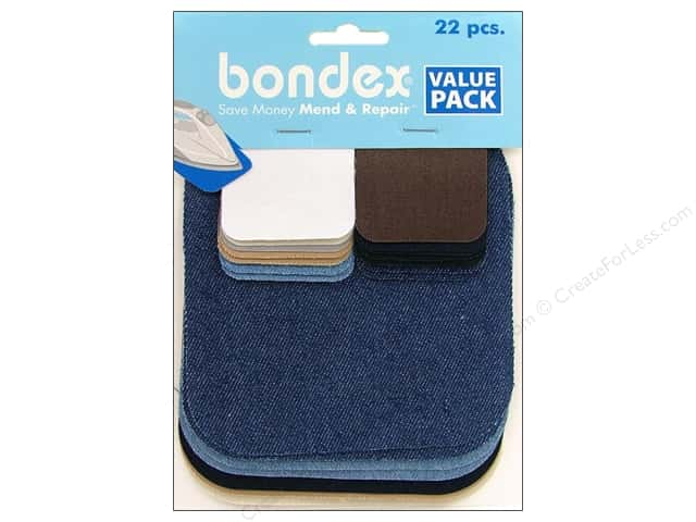 Bondex Iron On Patch Value Pack Assorted 22 pc.