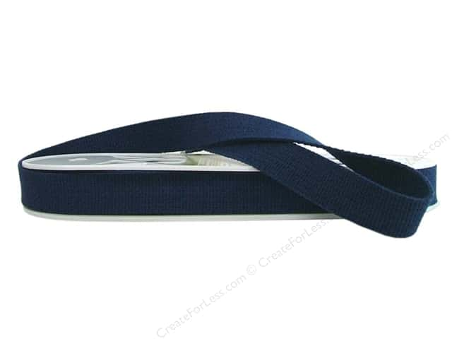 "Wrights Tape Cotton Webbing 1"" Navy 10yd (10 yards)"