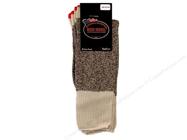 Red Heel Sock 2 Pair with Instructions Medium Brown