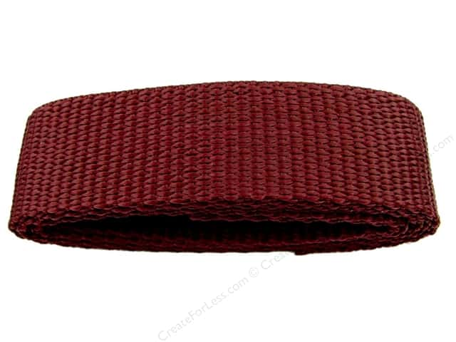 "PA Essentials Polypropylene Webbing 1""x 36"" Package Burgundy"